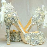 Cinderellas Wish Peep Toes crystal glass by everlastinglifashion