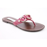 Steve Madden Swindlee Open Toe Flip Flops Sandals Shoes Pink Womens