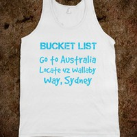 bucket list Australia tank - glamfoxx.com