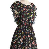 Lovely Little Birds Dress | Mod Retro Vintage Dresses | ModCloth.com