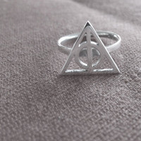 Silver Deathly Hallows Ring, Harry Potter - Voldemort&#x27;s Horcrux