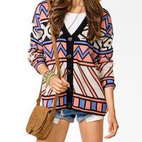 Oversized Geo Cardigan | FOREVER 21 - 2040495081