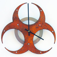 Biohazard Wall Clock I (Rusted)