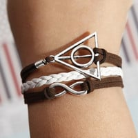 Harry Potter bracelet   Silver  Karma with coffee by diychenmade