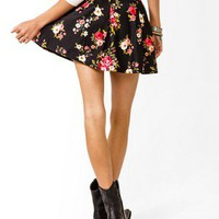 Floral Pleated Skirt | FOREVER 21 - 2027705172