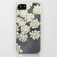 Black and White Queen Annes Lace iPhone Case by Erin Johnson | Society6