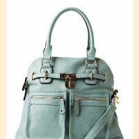 Lock and Key Bag in Light Blue