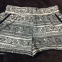 Forever 21 Tribal print shorts. Size SMALL