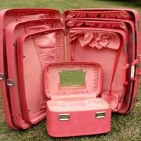 Vintage 1960's 4 piece Wheary Luggage Set