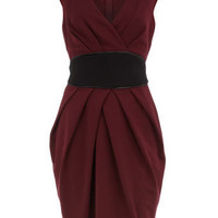 Maroon obi style ponte dress - New In Clothing - What's New - Dorothy Perkins
