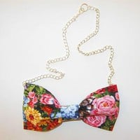Love What's Missing | Garden Rose Bowtie Necklace | Online Store Powered by Storenvy