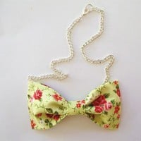 Love What's Missing | Floral Bowtie Necklace | Online Store Powered by Storenvy