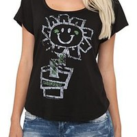 Green Day Flower Dolman Top - 144619