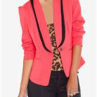 Coral Blazer- Tux Blazers- Going Out Blazers