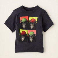 baby boy - graphic tees - multi monkey graphic tee | Children's Clothing | Kids Clothes | The Children's Place