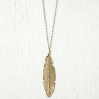 Free People Clothing Boutique &gt; Feather Pendant Necklace