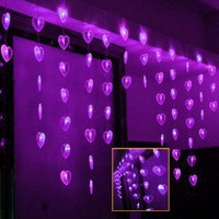 CIS-84074 Lovely Home Decoration Purple LED String Lamp with 2Mx0.7M 60 Leds - AC220V China Wholesale - Everbuying.com