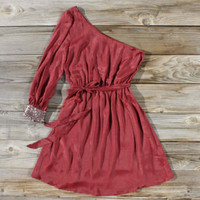 Backlit Chiffon Dress in Ruby, Sweet Women's Bohemian Clothing