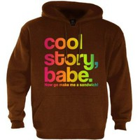 Amazon.com: Cool Story Babe Rainbow Brown XX-Large Hoodie [Apparel] [Apparel]: Clothing