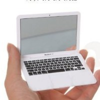 Amazon.com: Mini Macbook Air Style Portable Mirror/ Apple Notebook Creative Make up Mirror: Beauty
