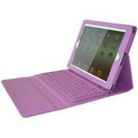 Essentials Faux Leather Case with Bluetooth Keyboard for iPad 2, 3, & 4 - Purple-OPEN BOX