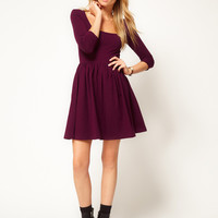 ASOS Skater Dress With Square Neck