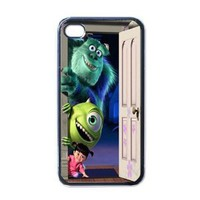 Amazon.com: Monster Inc V3 iPhone 4 / iPhone 4s Black Designer Shell Hard Case Cover Protector Gift Idea: Cell Phones & Accessories