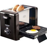 Amazon.com: Nostalgia Electrics BTG-100BLK Flip-Down Breakfast Toaster: Kitchen & Dining