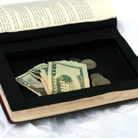 Handmade Hollow Book  Secret Stash Box by Virtualdistortion