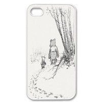 Amazon.com: Apple iPhone 4 4G 4S Cute Winnie the Pooh Piglet Friends Forever Retro Vintage WHITE Sides Case: Cell Phones & Accessories