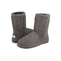 Grey Ugg Classic Men&#x27;s Short Boots Outlet UK