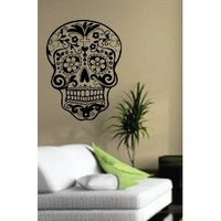 Amazon.com: Sugarskull Wall Vinyl Decal Sticker Art Graphic Sticker Sugar Skull: Everything Else