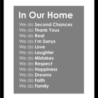 Subway Art In Our Home Family Rules Print  16x20 by karimachal