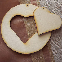 Christmas Heart 6 pieces total  3 circles and 3 by GreekArt