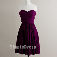 Beach Sweetheart Sleeveless Knee-length Chiffon Ruffles Fashion Bridesmaid/Evening/Party/Homecoming/Prom/Cocktail Dress 2013 New Arrival