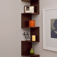 Amazon.com: Corner Zig Zag Wall Shelf: Home & Kitchen