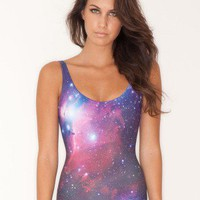 Galaxy Purple Swimsuit - Black Milk Clothing