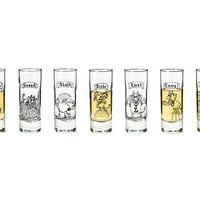 THE 7 DEADLY SINS SHOT GLASSES- SET OF 7 | Unique Shot Glass, Glass Barware, Fun Drinking Glasses, Comic Illustrations, Seven Deadly Sins, Mort Gerberg, Etch Shot Glass, Dante, Chaucer, Sinful, Cool Shot Glass, Shooter | UncommonGoods