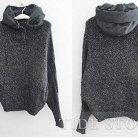 Exquisite Loose Knit Hooded Knitwear: tidestore.com