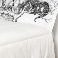 Alice Tea Party Pillowcase - Set Of 2- Black & White One