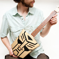 Autobot Transformer ukulele by celentanowoodworks on Etsy