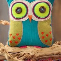 Amazon.com: You Are Loved Owl Teal and Lime Green Shaped Pillow Natural Life: Home & Kitchen