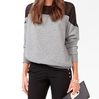 Heathered Contrast Dolman Top