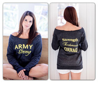 Army Strong  Strength Endurance Courage Off the by NutritionSnob