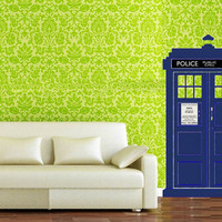 Large Doctor Who TARDIS wall art