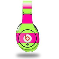 Amazon.com: Kearas Psycho Stripes Neon Green and Hot Pink Decal Style Skin (fits genuine Beats Studio Headphones - HEADPHONES NOT INCLUDED): Everything Else