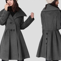 Genuine cashmere winter coat 2011 new women's by msichen3 on Etsy