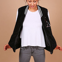 Crushed Varsity Jacket | Trendy Jackets at Pink Ice