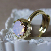 Orb Ring - Pale Pink Swarovski Crys.. on Luulla