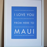 Maui Art Print, 8x10 on Luulla